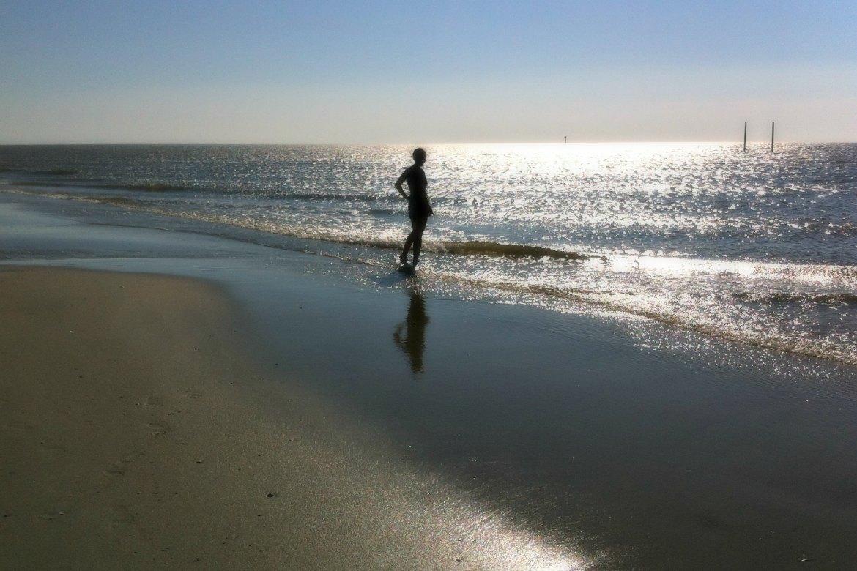 Vergessen Frau am Meer